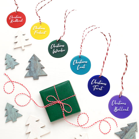 Sweary Frosted Acrylic Christmas Decorations (Over 18s only!)