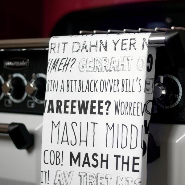 Nottingham Phrases Tea-towel.