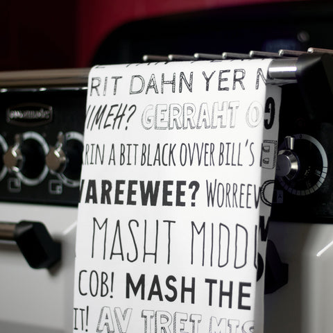 Nottingham Phrases Tea-Towel