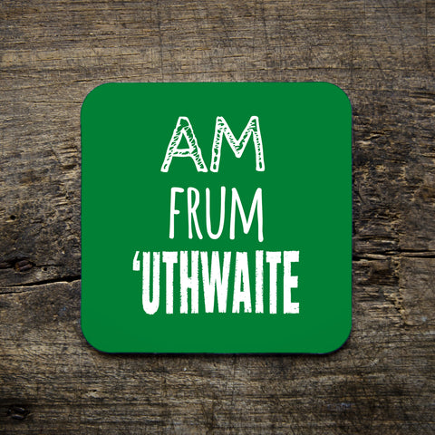 huthwaite, place name, nottingham accent, coaster, green, east midlands, gifts