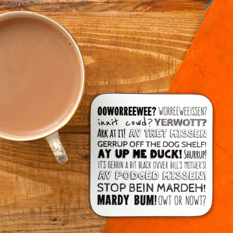 NOTTINGHAM PHRASES COASTER