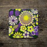 Vintage Fabric Pattern Coaster