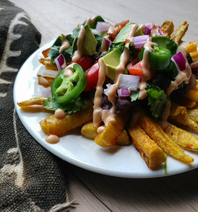 Loaded Plantain Fries