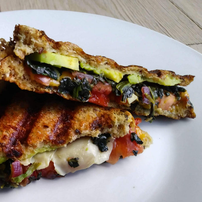 Loaded Vegan Grill Cheese Sandwich