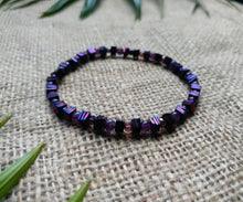 Grounded Amethyst Hematite Bracelet