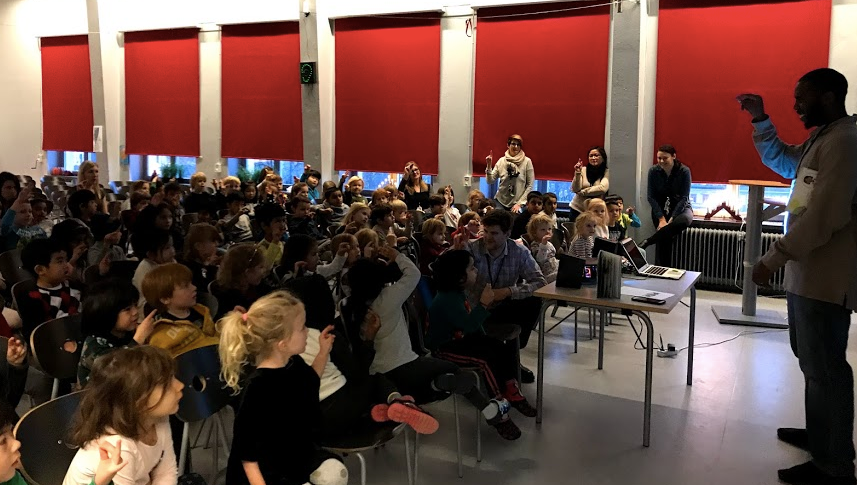 Author Kentrell Martin's visit to Stockholm International School