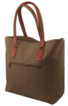 Tote Bag - Brown Faux Suede