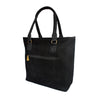 Tote Bag - Black Faux Suede