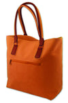 Tote Bag - Orange Faux Suede
