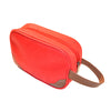 Toiletry Kit (small) - Red Faux Suede