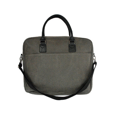 Briefcase - Aspen Grey Faux Suede