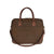 Briefcase - Brown Faux Suede