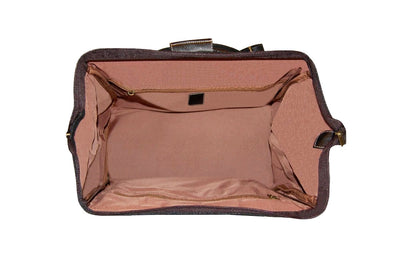 Travel City Bag - Brown Faux Suede
