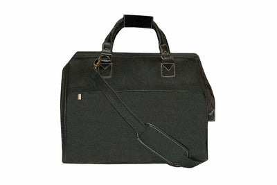 Travel City Bag - Black Faux Suede