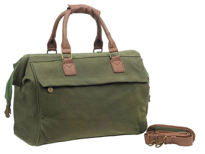 Travel City Bag - Millwood Green Faux Suede