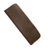 Tie Case - Brown Faux Suede