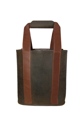 Brown Faux Suede Party to Go Tote