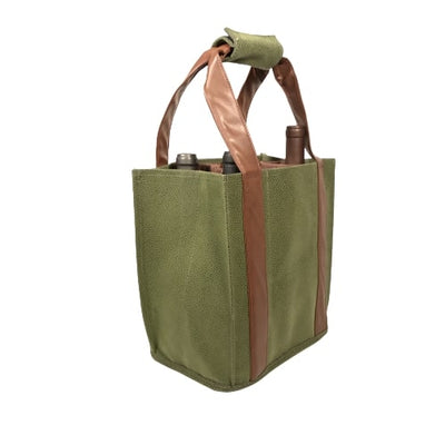 Party-To-Go Tote - Millwood Green Faux Suede