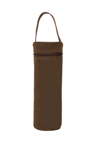 Brown Faux Suede Bottle Carrier