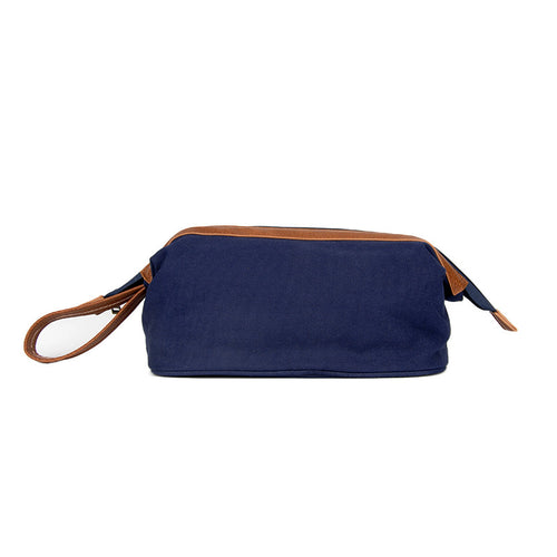 Washed Navy Canvas Classic Dopp Kit