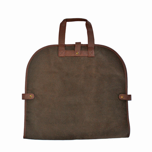 Brown Faux Suede Garment Tote