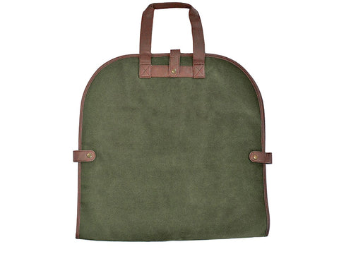 Millwood Green Faux Suede Garment Tote
