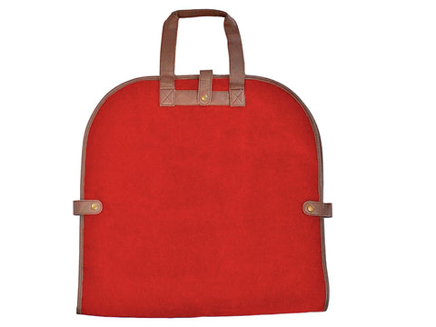 Red Faux Suede Garment Tote
