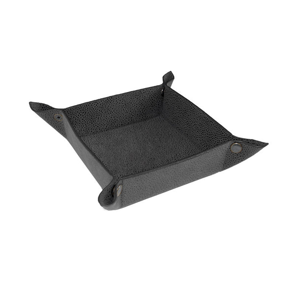 Aspen Grey Faux Suede Grain Valet Tray