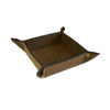 Valet Tray - Brown Faux Suede
