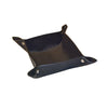 Valet Tray - Black Faux Suede