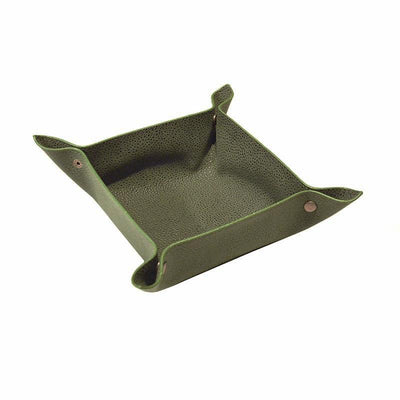 Valet Tray - Millwood Green Faux Suede