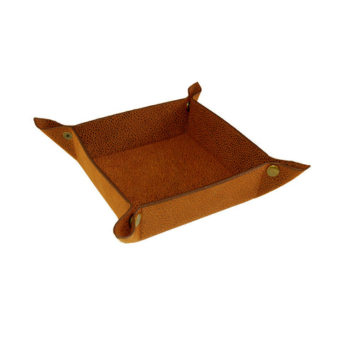 Orange Faux Suede Valet Tray