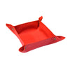 Valet Tray - Red Faux Suede