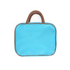 Large Hanging Toiletry Bag - Turquoise Faux Suede