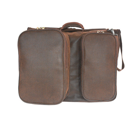 "Brown Faux Suede ""Not Just A Garment Bag"""