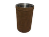 Wine Cooler - Brown Faux Suede