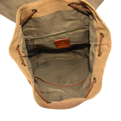 Backpack - Washed Green Canvas
