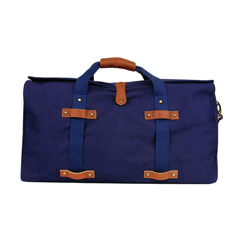 Washed Navy Canvas Duffle