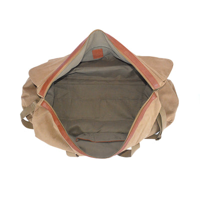 Canvas Duffle - Washed Camel Canvas