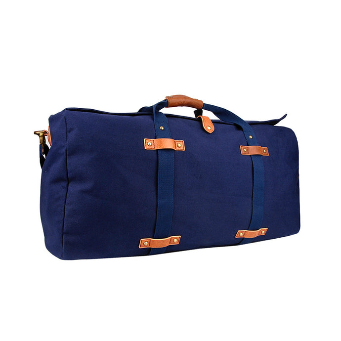 Washed Navy Canvas Large Duffle