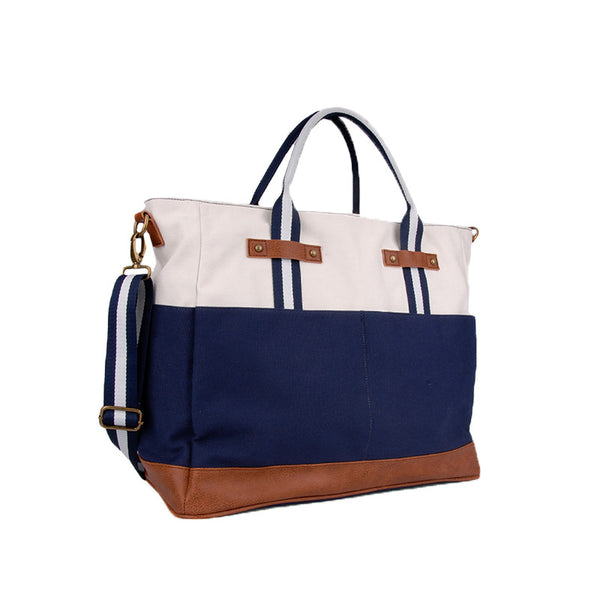 Washed Navy Canvas All Around Bag