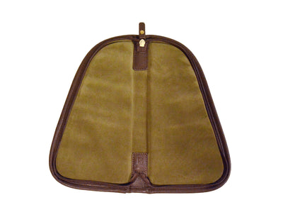 Pistol Case (small) - Waxed Khaki Canvas
