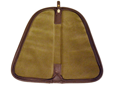 Pistol Case (large) - Waxed Khaki Canvas