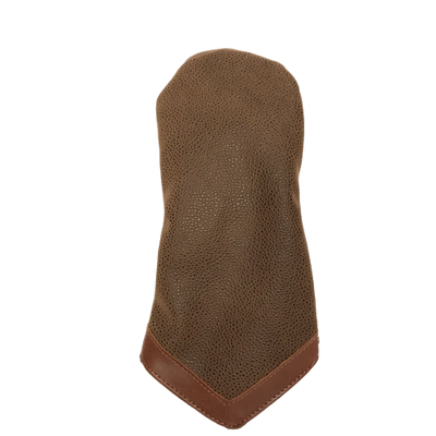 Brown Faux Suede Hybrid Head Cover
