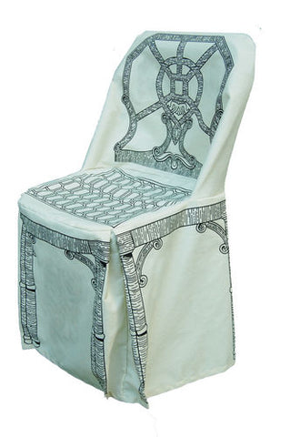 """Dress-Up"" Chair Cover in Chippendale Pattern"