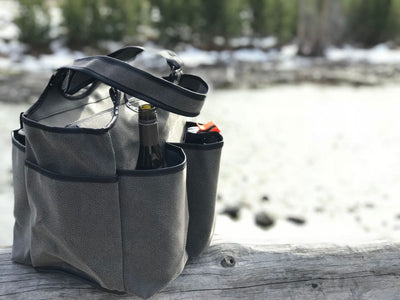 Haul it All Bag - Aspen Grey Faux Suede