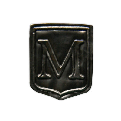 """M"" Noble Initial Shield"