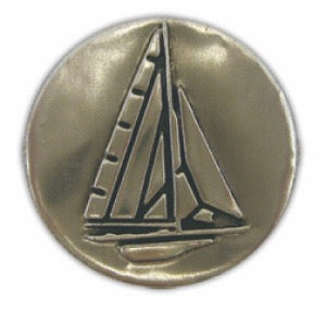 Sailboat Noble Initial Medallion