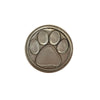 Noble Initial Medallion - Paw Print