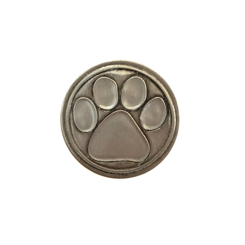 Paw Print Noble Initial Medallion